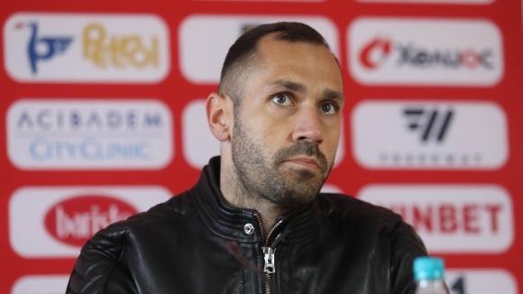 Капитанът на ЦСКА-София Петър Занев говори преди старта на пролетния