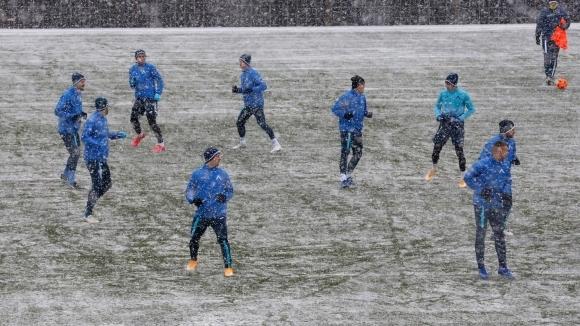 Футболистите на проведоха последна тренировка преди сблъсъка си с утре.
