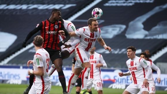 Айнтрахт (Франкфурт) победи Кьолн с 2:0 в среща от 21-ия