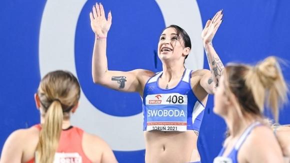 Действащата европейска шампионка на 60 метра от Глазгоу 2019 Ева