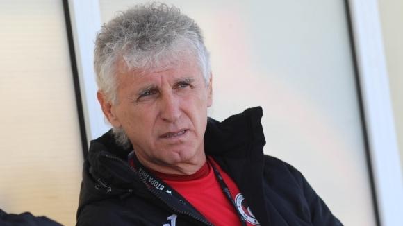 Наставникът на Локомотив (София) Иван Колев се оплака след нулевото