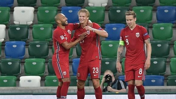 Националният отбор на Норвегия, част от който е звездата на