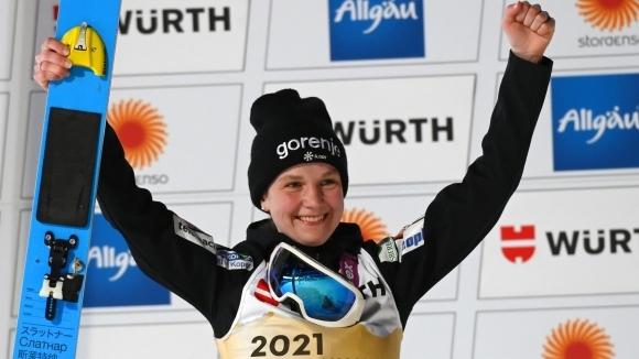 Словенката Ема Клинец изненадващо спечели титлата на малката шанца на