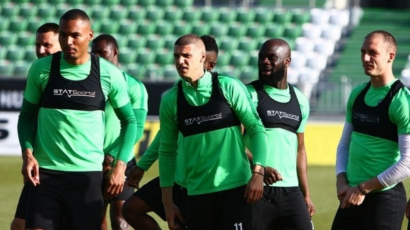 Лудогорец проведе една тренировка преди мача с ЦСКА-София в събота.В
