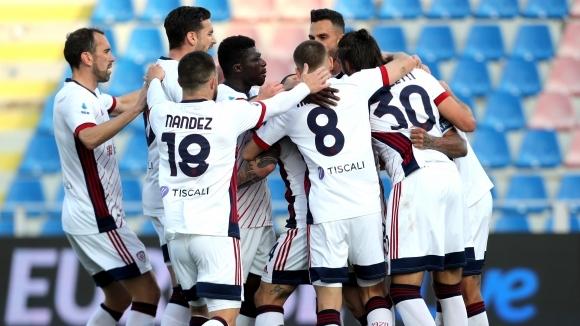 Отборът на Каляри постигна победа с 2:0 при гостуването си