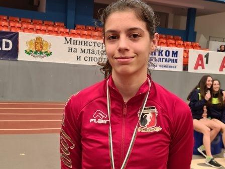 Най-добрата ни атлетка в хоризонталните скокове при девойките Пламена Миткова