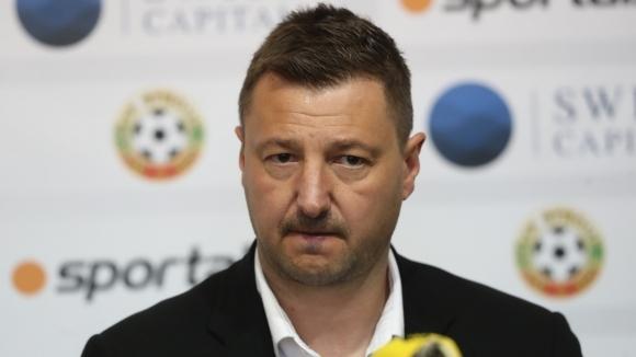 Изпълнителният директор на Пирин (Благоевград) Таско Тасков говори преди старта