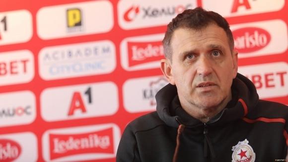 Старши треньорът на ЦСКА-София Бруно Акрапович даде пресконференция преди дербито