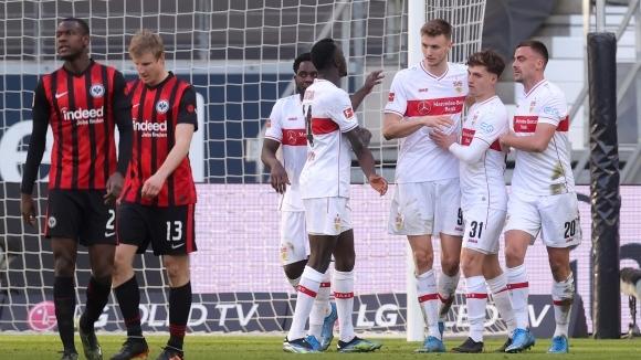 След девет победи в десет мача в Бундеслигата Айнтрахт допусна