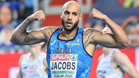 Снимка: Джейкъбс отвя конкуренцията за европейската титла на 60 метра