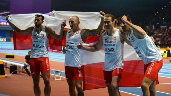 Мъжката щафета на Полша на 4 по 400 метра се