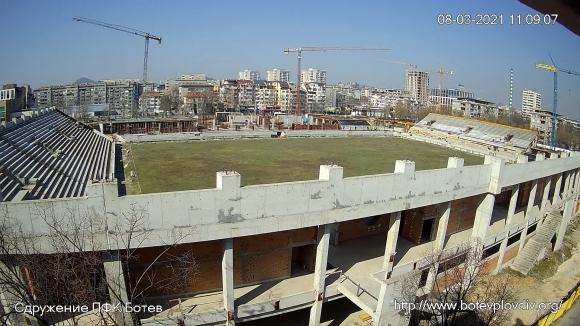 Продължават строителните дейности по стадион