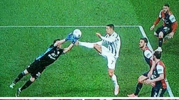 Суперзвездата на Ювентус Кристиано Роналдо реализира хеттрик още през първото