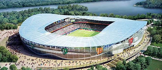 """Стадион """"Казан"""": Вече започна реконструкцията на стадиона, който ще бъде използван от Рубин (Казан). Новият капацитет ще е 45 000."""