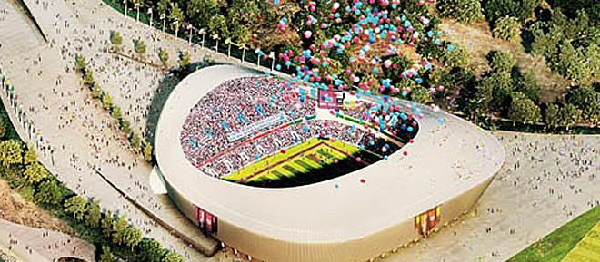 """Стадион """"Самара"""": Ще бъде построен на едноименната река Самара."""