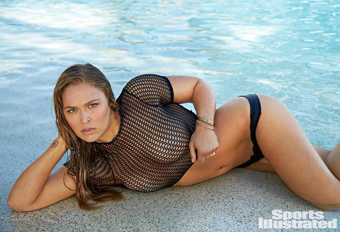 Ронда Раузи се снима за Sports Illustrated