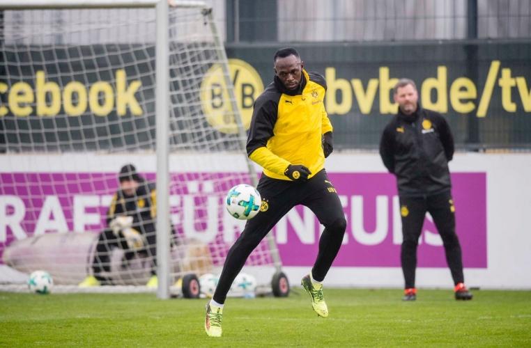 Юсейн Болт тренира с Борусия (Дортмунд)