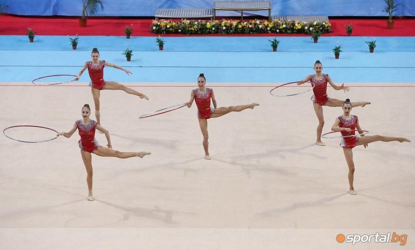 Финално участие на българският ансамбъл на СК по художествена гимнастика