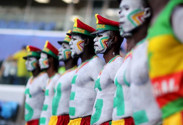 Феновете на Сенегал за мача с Колумбия