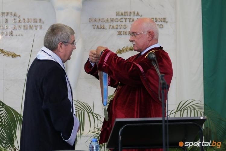 """Удостояване на Томас Бах за """"Доктор Хонорис Кауза"""" на НСА"""