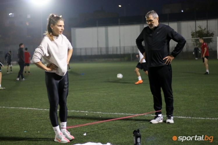 Тренировка на Габриела Петрова в Пловдив