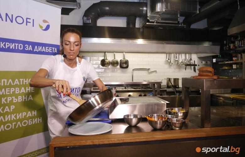 """Ивет Лалова в ролята си на посланик на кампанията """"Открито за диабета"""" приготви любимата си закуска"""