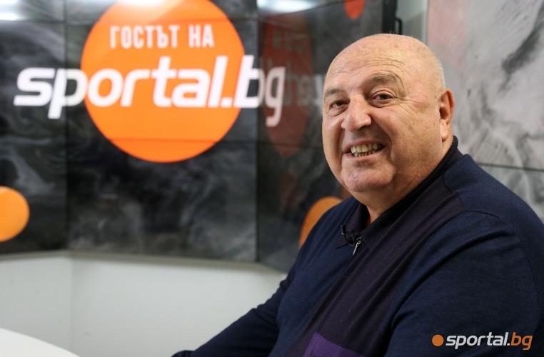 """Венцеслав Стефанов в първото издание на """"Гостът на Sportal.bg"""" за 2019 година"""