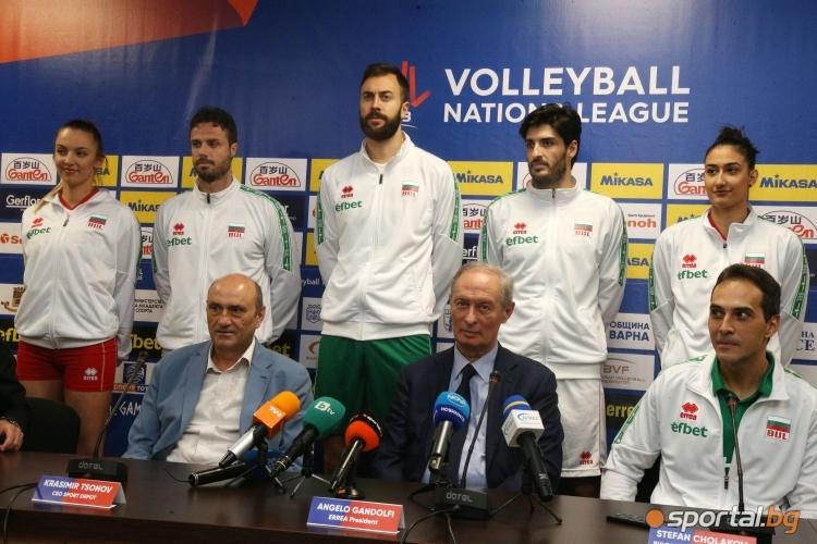 Пресконференция за представяне на новите екипи на националните отбори на България за мъже и жени