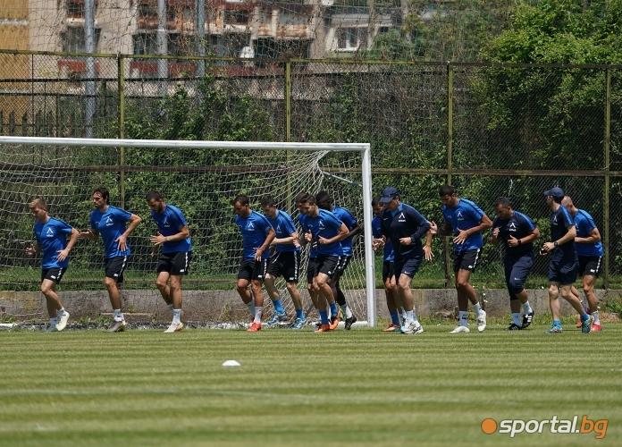Футболистите нa Левски с открита тренировка след лагера в Добринище