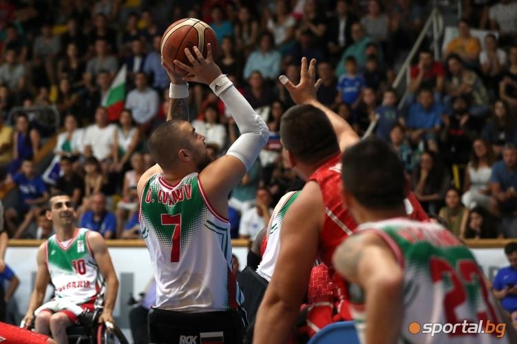 Европейско първенство по баскетбол в колички: България - Унгария 50:33
