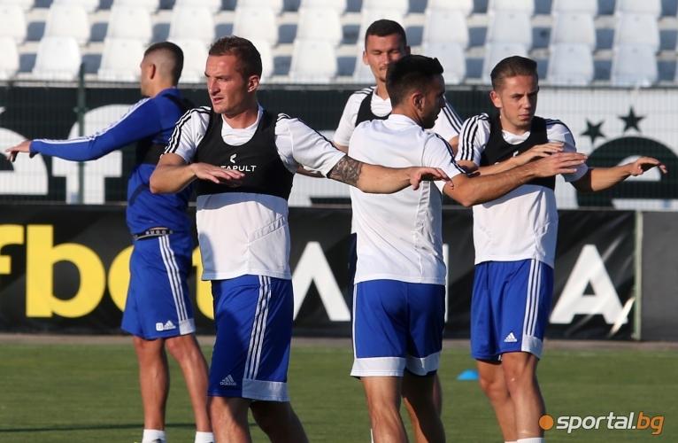 Тренировка на Страсбург преди двубоя с Локомотив (Пд)