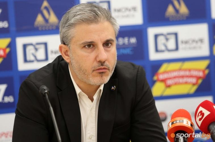 Павел Колев представя официално новия спортен директор на Левски Ивайло Петков