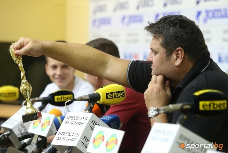 България  и Мартин Стоев отбор и треньор на месец август