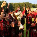 Локомотив Мездра празнува с купата влизането в А група