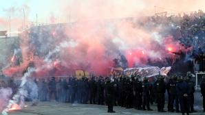 Феновете на Локо и Ботев по време на дербито