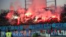 Феновете на Левски и ЦСКА по време на дербито