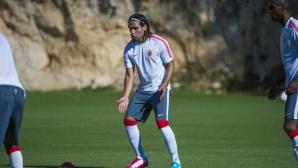 Бербатов и Фалкао започнаха тренировки с Монако