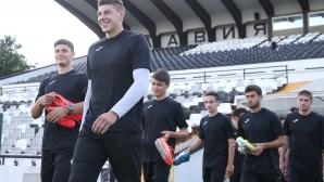 Славия се събраха за първа тренировка