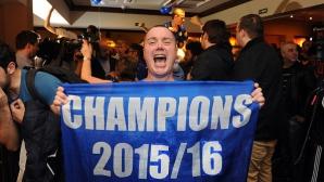 Феновете на Лестър празнуват спечелването на титлата