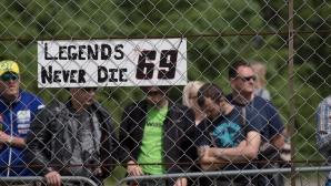 Пилоти и фенове на MotoGP почетоха Ники Хейдън