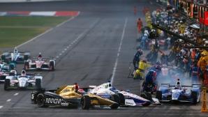 Нереално: Едва 6 от 22 автомобила финишираха в кръг от Индикар