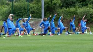 Футболистите на Левски с открита тренировка в Правец