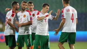 Радостта на националите след мача
