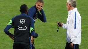 """Французите тренират на стадион """"Васил Левски"""""""