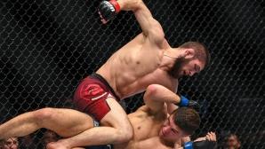 Хабиб Нурмагомедов е новият световен шампион на UFC в лека категория