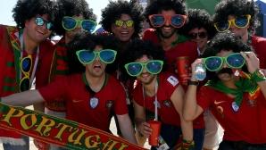 Феновете на Португалия срещу Испания
