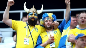 Феновете на Швеция срещу Южна Корея