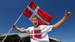 Феновете на Дания срещу Австралия