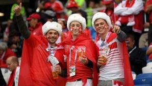 Запалянковците на Швейцария срещу Сърбия