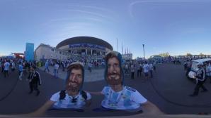 Феновете на Аржентина за мача с Нигерия